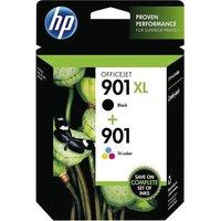 HP 901XL/901 Combo-pack - 2-pack - High Yield - black, colour (cyan, magenta, yellow) - original - ink cartridge