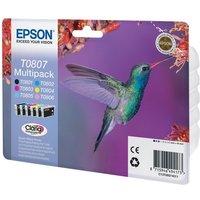 Epson T0807 Multipack - black, yellow, cyan, magenta, light magenta, light cyan - original - ink cartridge