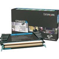 Lexmark - cyan - original - toner cartridge - LCCP, LRP
