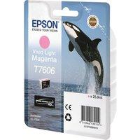 Epson T7606 - vivid light magenta - original - ink cartridge