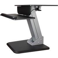 Image of StarTech.com Height Adjustable Standing Desk Converter - Sit Stand Desk with One-finger Adjustment - Ergonomic Desk - mounting kit - for LCD display / keyboard / mouse / notebook