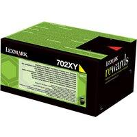 Lexmark 702XY - Extra High Yield - yellow - original - toner cartridge - LCCP, LRP