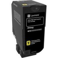 Lexmark - High Yield - yellow - original - toner cartridge - LCCP, Lexmark Corporate