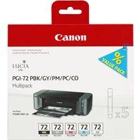 Canon PGI-72 PBK/GY/PM/PC/CO Multipack - 5-pack - grey, photo black, photo cyan, photo magenta, chroma optimiser - original - ink tank