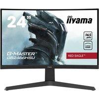 "iiyama G-MASTER Red Eagle GB2466HSU-B1 - LED monitor - curved - Full HD (1080p) - 24"""