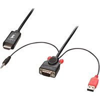 Lindy video / audio cable - HDMI / VGA / audio - 2 m