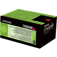 Lexmark 702HM - magenta - original - toner cartridge - LCCP, LRP