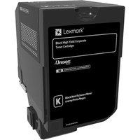Lexmark - High Yield - black - original - toner cartridge - LCCP, LRP, Lexmark Corporate