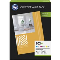 HP 903XL Office Value Pack - 3-pack - High Yield - colour (cyan, magenta, yellow) - original - ink cartridge