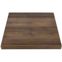 Plateau de table carré 700 mm effet bois chêne rustique - bolero. Plateau de table adapté pour une utilisation dans les hôtels, restaurants
