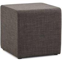 Tabouret bas sekil dark grey 41x41x41 cm. Pouf, repose pied ou table d'appoint, SEKIL offre une polyvalence d'utilisation exemplaire. Un rembourrage f