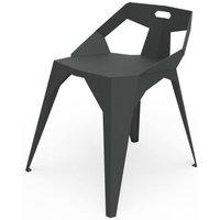 Chaise plexus gris koala Cha_PLX_doB_4p_Koa. La chaise en métal de la collection PLEXUS signée du designer Mathieu Léote pour la marque ZHED, garantit