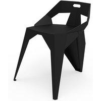 Chaise plexus. La chaise en métal de la collection PLEXUS signée du designer Mathieu Léote pour la marque ZHED, garantit une ambiance originale et