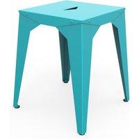 Tabouret bas cuatro bleu lagon TbB_CUA_Lag. Le tabouret bas Cuatro est un meuble chic multifonctionnel tant il rend service partout dans la maison. Co
