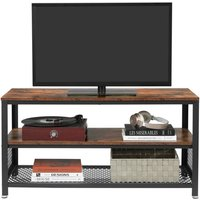 Meuble tv vintage, table basse, table de salon, ltv40bx vasagle Multi-fonctions,Texture Bois. Grâce au style vintage annoncé et appliqué