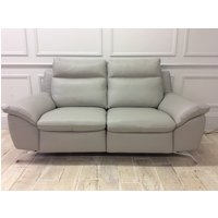 Product photograph showing Amalfi 2 Seater Sofa With Electric Recliners In 20jk Leather