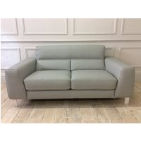 Product photograph showing Silvio 2 Seater Sofa In Grigio 1586 Leather