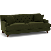 Product photograph showing Charnwood Large Sofa In Easy Clean Velvet Juniper