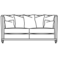 Product photograph showing Duresta Collingwood 2 5 Seater Scatter Back Sofa