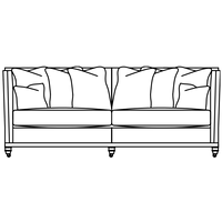 Product photograph showing Duresta Collingwood 3 Seater Scatter Back