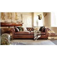 Product photograph showing Duresta Connaught Leather Grand Sofa