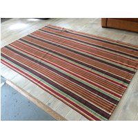 Product photograph showing Dash Albert Rug - Ranch Stripe Tw