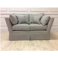 Product photograph showing Charlie Small Sofa In Family Friendly Linen Blend - Grey 029