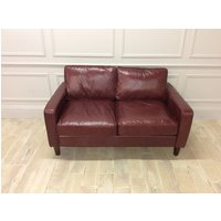 Product photograph showing Duke 2 5 Seater Sofa Old English Terracotta