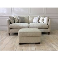 Product photograph showing Babbington Medium Sofa Milano Natural Footstool