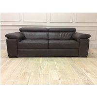 Product photograph showing Fabio 3 Seater Sofa In Leather 10bh