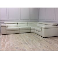 Product photograph showing Fabio Large Corner With 2 Electric Recliners