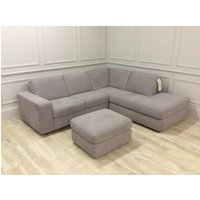 Product photograph showing Alma Corner Chaise - Right Footstool