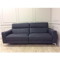 Product photograph showing Orlando 3 Seater Sofa With 2 Electric Recliners Italian Top Grade Leather - Natural - 20rg