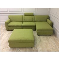 Product photograph showing Lana Sofa With Right Hand Facing Storage Chaise Plus Storage Footstool In Espero 03 Fabric