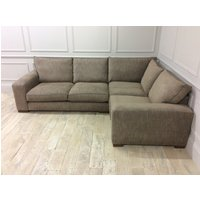Product photograph showing Ashdown Medium Corner Sofa In Habitat Jute Fabric