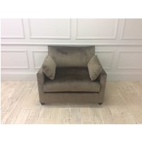 Compton Chair Bed in Longbridge Velvet - Sand - with an upgrade pocket sprung mattress