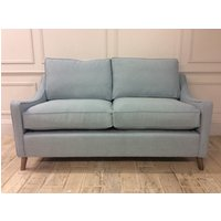 Weymouth 3 Seater Sofa Bed in Easy Clean Soft as Cotton Powder Blue with Memory Foam Mattress