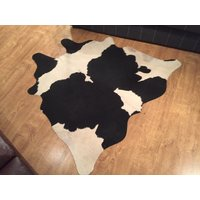 Product photograph showing Cow Hide Black White Tw