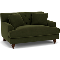 Product photograph showing Charnwood Love Seat In Easy Clean Plush Velvet Juniper