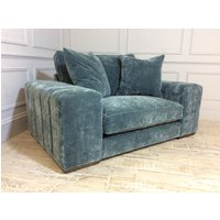Product photograph showing Epping Loveseat In Vintage Velvet Ocean