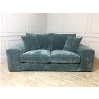 Product photograph showing Epping Medium Sofa In Vintage Velvet Ocean