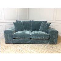 Product photograph showing Epping Medium Sofa In Vintage Velvet Ocean