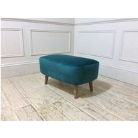 Product photograph showing Brighton Small Bench Stool In Teal