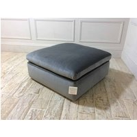 Product photograph showing Italian Large Ottoman In Brezza 03