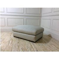 Product photograph showing Kingston Grand Footstool In Linen Blend Cloud