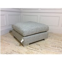 Product photograph showing Norton Footstool In Vegas - Zinc