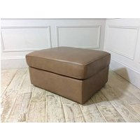 Product photograph showing Italian Large Storage Ottoman In 15wi