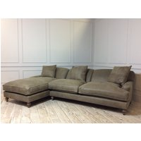 Product photograph showing Galloway Leather Sofa With Chaise