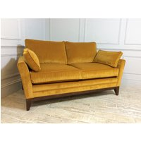 Product photograph showing Exmouth 2 Seater Sofa In Saffron