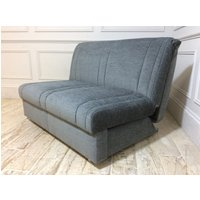 Product photograph showing Launceston 2 Seater No Arms Sofa Bed In Falcon